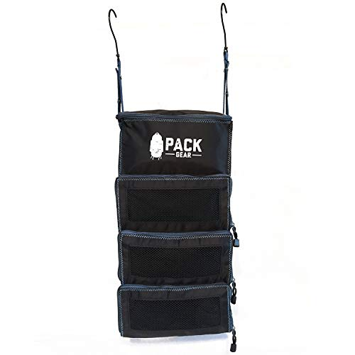 Pack Gear Portable Luggage Organizer - Make Packing your Suitcase or Carry-On Easy - Our Packable Hanging Shelves are Collapsible & Feature Mesh Windows