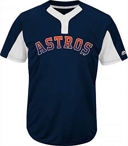 Majestic Houston Astros Premier Eagle Cool Base Men's 2-Button Jersey Medium