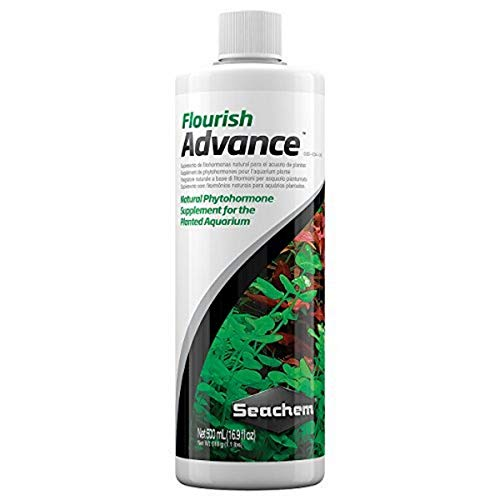 Seachem Flourish Advance - Fertilizante de 500 ml, con fitohormonas, para plantas de acuario de agua dulce