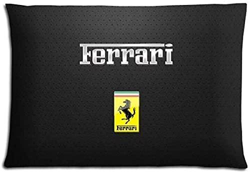 SHAA ropa de cama protectores fundas algodón poliéster durable salud Ferrari-18x18 pulgadas