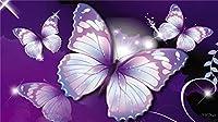 大人と子供は壁の装飾の楽しい家族のゲームアート減圧おもちゃDiyギフトの35個をパズルします 紫の蝶