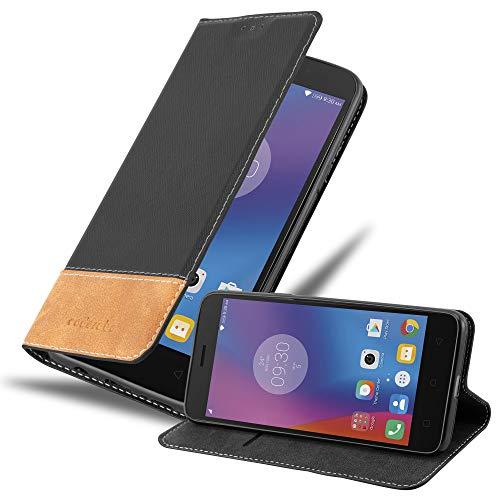 Cadorabo Hülle für Lenovo K6 in SCHWARZ BRAUN - Handyhülle mit Magnetverschluss, Standfunktion & Kartenfach - Hülle Cover Schutzhülle Etui Tasche Book Klapp Style