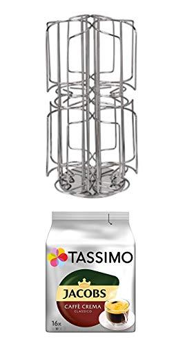 Tassimo Kapseln Jacobs Caffé creme classico 1er Pack + Kaffee-Kapselständer für Tassimo, 48 Kapseln
