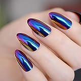 Espejo metálico Uñas postizas artificiales Cromo Unicornio Nail Art Tips Glamour Quality Nail Decoration Set