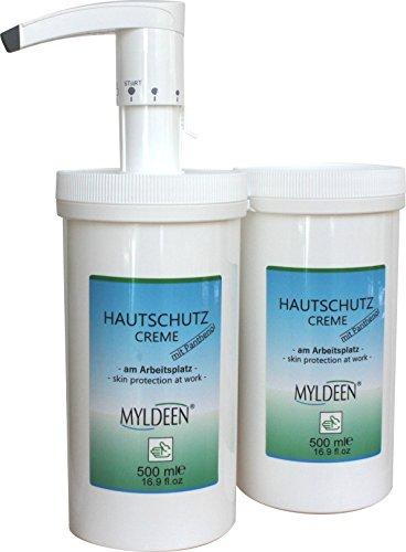 Hautschutzcreme | Handcreme | Spender + Nachfülldose 500 ml | Pflege auf der Arbeit, Arbeitsschutz