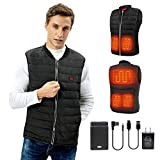 Heated vest heated vest for women heated vest for men electric women heated vest men's heated vests heated jacket for women heated jacket for men rechargeable Heating Clothing Christmas Gifts for women small (Battery Not Included)