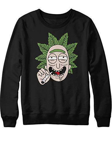 HYPSHRT Herren Sweatshirt Rick Weed C000396 Schwarz L