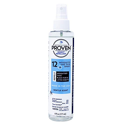 Proven Insect Repellent Spray – Protects Against Mosquitoes, Ticks and Flies - Gentle Scent - 6 fl. oz.
