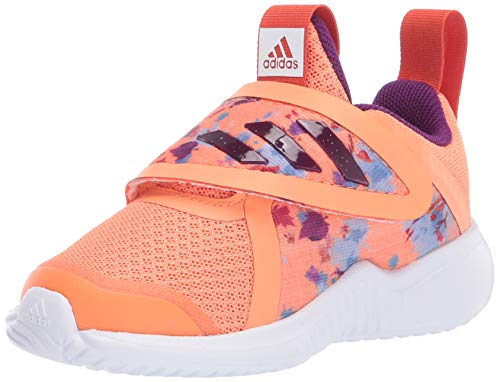 adidas Baby Unisex's Fortarun X Frozen Cloadfoam I Running Shoe, Amber Tint/Glory Purple/Glory Amber, 8K