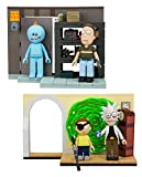 McFarlane Toys Rick and Morty: Evil Rick and Morty and Smith Garage Rack Micro Construction Playset