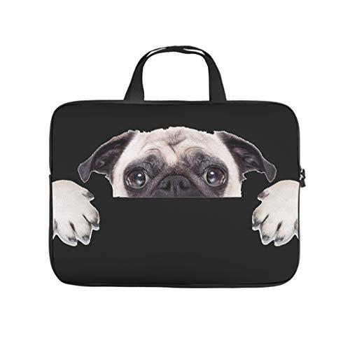 Funda para portátil con diseño de perro carlino, resistente al agua