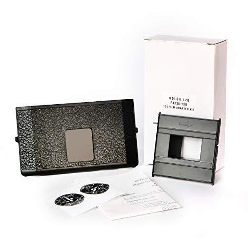 Holga 135 Film-Adapter-Set für 120N 120GCFN 120CFN 120GFN 120GN 120FN 120GTLR 120TLR, inkl. Rahmenmaske, Kamera-Rückseite und Rahmen-Counter Sticker