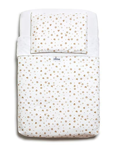 Niimo Crib Sheets Set (3 Pieces)100% Cotton Compatible with Co-Sleeping Cribs Next to Me Cradle Venture Hush Bedside Lullago Kinderkraft UNO Babylo Cozi Tutti Bambini Cozee Dimensions 50x83