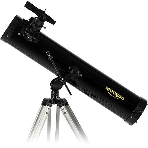 Omegon N 76/700 AZ-1, telescopio de Espejo con Apertura de 76 mm y 700 mm de Distancia Focal