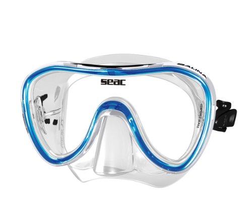 SEAC Salina SLT, Maschera Subacquea per Uomo e Donna, Ideale per Snorkeling Unisex Adulto, Blu,...