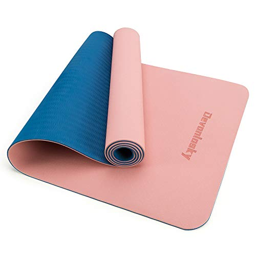 Devonlosky Yoga Mat, Non-slip Eco Friendly Exercise Yoga Mat for Men and Women, 1/4-Inch Thick High Density Pro Mat with…