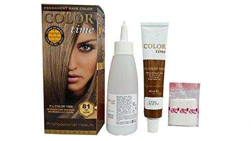 SPARSET 2x im ständigen Färbemittel Haarfarbe Blond Ash 81