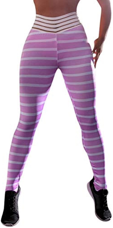 Klv Yoga Pants of Women Sport Pants Hight Waist Shanto Print Legging Running Strch Trouser Sportswear Woman Gym   Pink, S