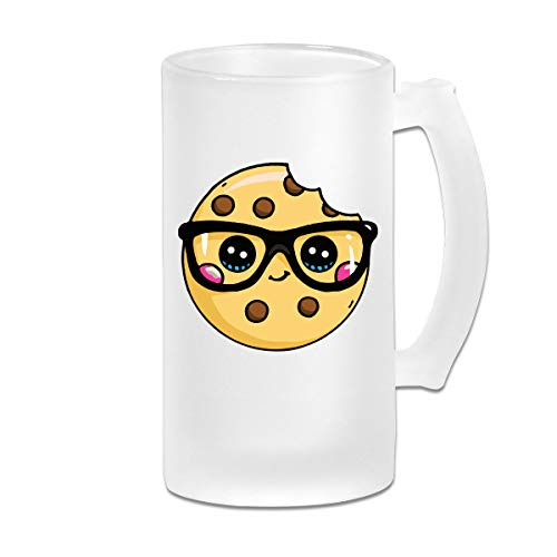 Cookie Cute Frosted Glass Stein Beer Mug - Personalized Custom Pub Mug - 16 Oz Beverage Mug - Gift For Your Favorite Beer Drinker