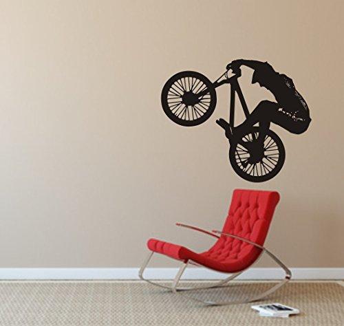 blattwerk-design WANDTATTOO - Dirt-Bike - Fahrrad - Sport Größen (770 mm x 600 mm, Schwarz)