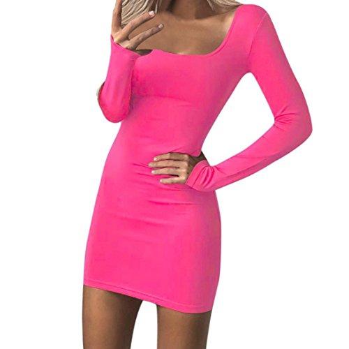 Xinan Damen Kleider Frauen Bodycon Langen Ärmel Niedrigen Brust Abend Party Mini Dress Swing Dress...