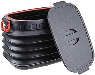 Nicoman BIN 18L LID BK 1 Pack Faltbarer Kofferraum Organizer 18 Liter mit Deckel, Schwarz, Large 18L