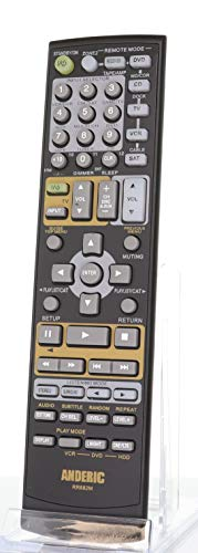 Anderic Replacement for Onkyo Audio Receiver Remote Control - Replaces Onkyo RC-682M RC-605S RC-606S RC-607M RC-608M RC-650M RC-651M RC-668M RC-681M RC-728M RC-461M RC-683M