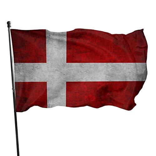 NotApplicable Yard-Flagge Skandinavien Flagge Europa Dänemark Fly Bleeze Garten Dekorative Haus Flagge Druck Polyester Holiday Yard Banner Die Ganze Saison Im Freien 150X90Cm Bunte Garten Flagg