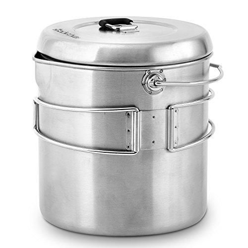 Solo Stove Pot 1800: Edelstahl-Kochtopf Titan. Toll für Backpacking, Camping, Überlebenstraining
