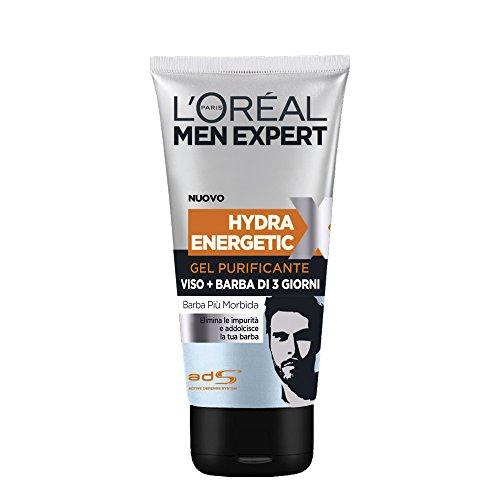 L'OREAL Men gel purificante viso+barba 150 ml. - cura del viso