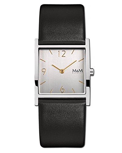 M&M Damenuhr Lederband M11917-463 Basic Square 129