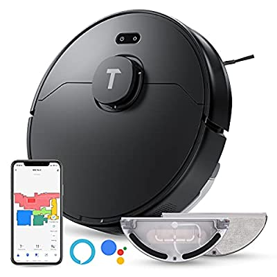 Robot Vacuum and Mop 2-in-1, Ofuzzi by TK, S10 Pro Robot Vacuum Cleaner with Lidar Navigation, 2000Pa Strong Suction, Wi-Fi Connected Mapping, Works with Alexa, Good for Pet Hair, Hard Floor, Carpet