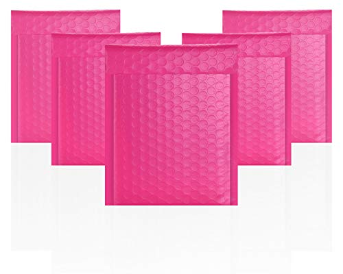 Amiff Pink Poly Bubble mailers 6.5 x 9 Padded envelopes 6 1/2 x 9. Pack of 25 Poly Cushion envelopes. Peel and Seal. Mailing, Shipping, Packaging and Packing Supplies. Bags with Cushioning