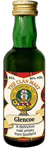 MacDonald of Glencoe Clan Crest Malt Whisky Miniaturflasche, Hergestellt in Schottland