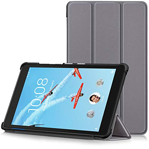 TTVie Hoes voor Lenovo Tab E8, Ultraslanke Lichtgewicht Slimme Standaard Beschermhoes voor Lenovo Tab E8 8 Inch Tablet 2018 Release, Grijs