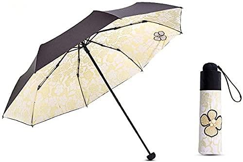 Guarda-chuva, guarda-chuva portátil, guarda-chuva à prova de vento, leve, à prova de vento, à prova d'água, forte, à prova de vento, 118 cm (cor: azul) (cor: amarelo)