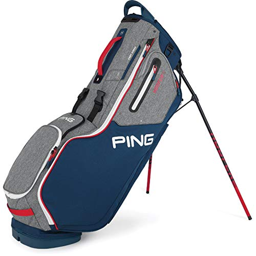 Product Image 2: PING New Hoofer 14 Way Stand Golf Bag [Heather Grey/Navy/Scarlet]