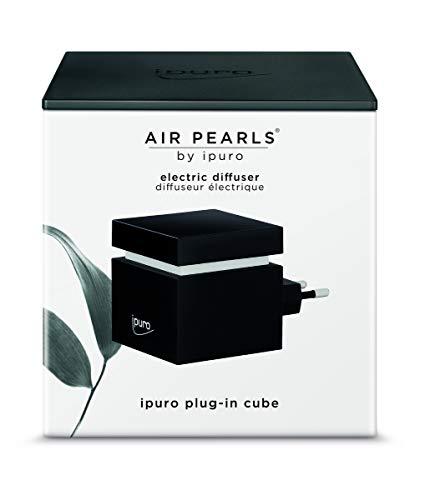 ipuro Air Pearls Plug-In Cube - Extra leiser Aroma Diffuser zum selbst befüllen - Elektronischer Raumduft für unterwegs - Perfekt zum Reisen, Zuhause, Büro, Yoga und Wellness