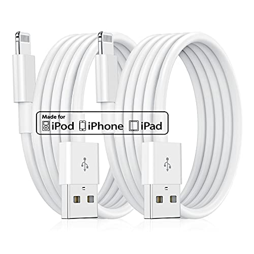 Long Apple iPhone Charger Cable 10ft, Apple MFi Certified Lightning to USB Cable 10 Foot, Fast iPhone Charging Cord 10 Feet Apple Chargers for Apple iPhone 11 Pro/XS MAX/XR/8/7/6/SE iPad(2pack)