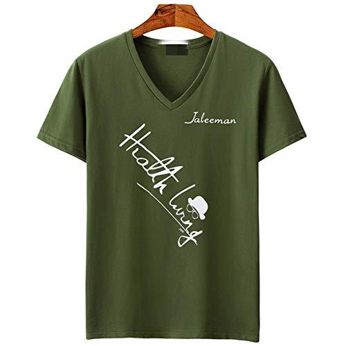 DNBUIFHSD Nouvelle Marque Vêtements Tee Tops 5XL Col en V Hommes T-Shirt Hommes De Mode À Manches Courtes T-Shirt Fitness Casual Mâle T-Shirt-Color1_5XL