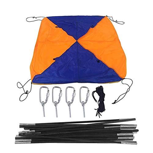 shizuku Aufblasbares Bootszelt, orangefarbenes Sonnensegel, wasserabweisend, UV-Block-Markise, einfach zu installieren für Boot, wasserdichtes Gummi-Boot, Faltmarkise für 4 Personen