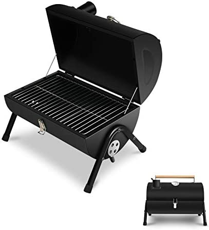 JJ JUJIN Portable Charcoal Grill BBQ Grill for Outdoor Cooking Camping and Picnic Black product image
