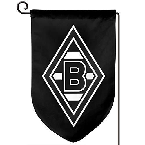 ボルシアメンヒェングラートバッハ 中庭、庭の装飾旗12.5 * 18インチのスタイリッシュで豪華な旗