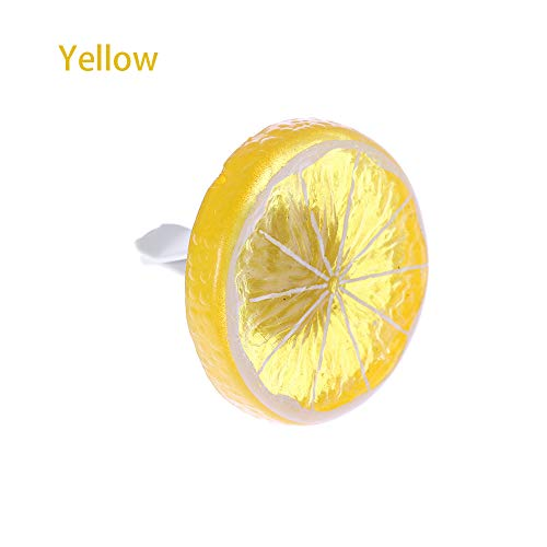 Car Vent Parfüm Clip Interior Zubehör Automobile Dekorationen Hohe Qualität Lemon geformt Feste Düfte Outlet Clamp Air Freshener(Yellow)