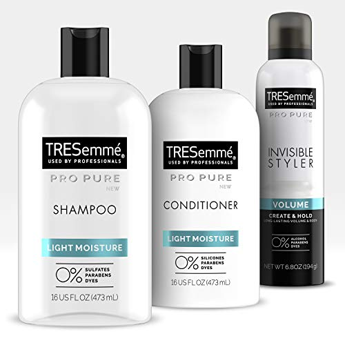 TRESemmé Pro PureShampoo, Conditioner and StylerTo Repair Damage and Add VolumeDamage Repair 3 Count
