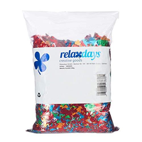 Relaxdays XXL Konfetti Sack, Riesen Metallic Konfetti, kunterbuntes Glitzer Konfetti, Geburtstag, Fasching, Festival, bunt
