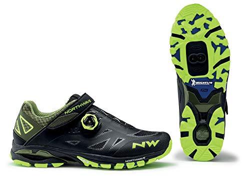 Northwave Spider Plus 2 MTB Trekking Fahrrad Schuhe schwarz/gelb 2021: Größe: 43