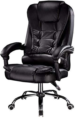 GSN Silla de la computadora Silla ergonómica del Ministerio del Interior de la PU acolchado de cuero silla de mesa de altura ajustable con respaldo alto 70cm grande del asiento y la inclinación de fun