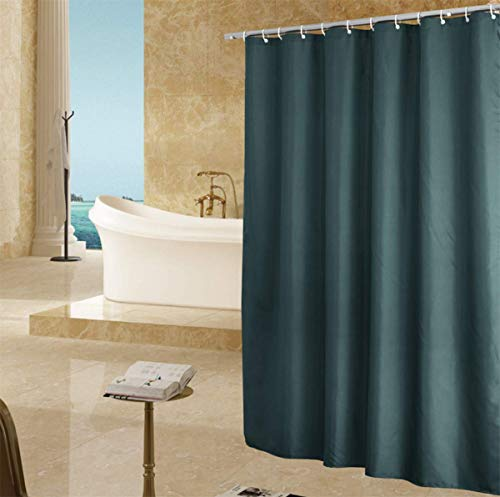 Dunkelgrüner Duschvorhang Größe 180cm × 180cm Home Hotel Wasserdicht & schimmelresistent Maschinenwaschbar