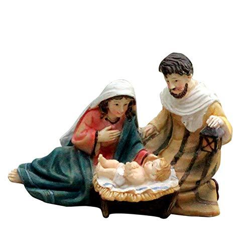 circulor-123 Nativity Scene Figurine Tabletop Scenes Of Nativity Jesus Birth Religious Ornament For Home Decoration
